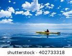 kayaking on lake baikal | Shutterstock . vector #402733318