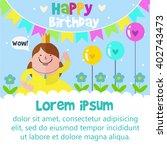 happy birthday card design... | Shutterstock .eps vector #402743473