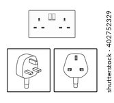 vector. uk   british socket and ... | Shutterstock .eps vector #402752329