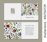 greeting card  floral design | Shutterstock .eps vector #402763729