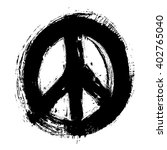 hand drawn peace symbol  vector ... | Shutterstock .eps vector #402765040