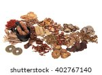 chinese herb ingredients used... | Shutterstock . vector #402767140