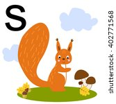 cute illustration of a squirrel.... | Shutterstock .eps vector #402771568