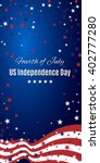 fourth of july. us independence ... | Shutterstock .eps vector #402777280