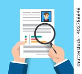 hiring. use a magnifying glass... | Shutterstock .eps vector #402786646