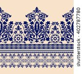 seamless damask pattern ... | Shutterstock .eps vector #402787780