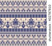 seamless damask pattern ... | Shutterstock .eps vector #402787810
