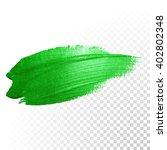 vector green watercolor brush...   Shutterstock .eps vector #402802348