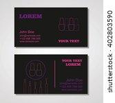 manicure salon business card... | Shutterstock .eps vector #402803590