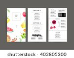 hand drawn menu cover template. ... | Shutterstock . vector #402805300