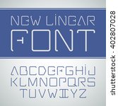 vector linear font.  simple and ... | Shutterstock .eps vector #402807028