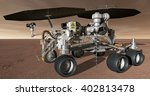 3D Illustration - Mars robotic prospecting rover - stock photo