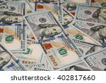 background of 100 dollar bills. ... | Shutterstock . vector #402817660