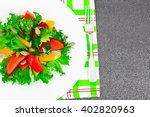 healthy and diet food  lettuce  ... | Shutterstock . vector #402820963