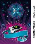 banner  turntable  ornament  ... | Shutterstock .eps vector #4028263