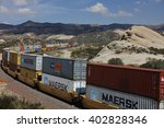 freight train with cargo... | Shutterstock . vector #402828346