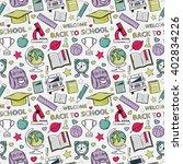 seamless school pattern. themed ... | Shutterstock . vector #402834226