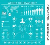 water and human body... | Shutterstock . vector #402839350