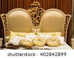 comfortable upholstery golden... | Shutterstock . vector #402842899
