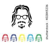 hipster portrait. vector... | Shutterstock .eps vector #402845236