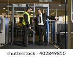 airport security check at gates ... | Shutterstock . vector #402849850