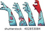 cartoon zombie hands. vector... | Shutterstock .eps vector #402853084