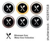 silverware icon metal icon...   Shutterstock .eps vector #402859318
