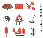 china travel asian traditional... | Shutterstock .eps vector #402860290