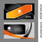abstract business card  | Shutterstock .eps vector #402876424
