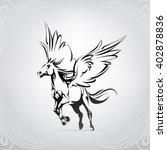 silhouette of a running pegasus | Shutterstock .eps vector #402878836