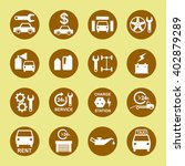 car service flat icon set | Shutterstock .eps vector #402879289