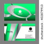 business card modern template  | Shutterstock .eps vector #402879913