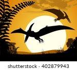 dinosaur pterodactyl....   Shutterstock .eps vector #402879943