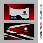 abstract business card  | Shutterstock .eps vector #402880318