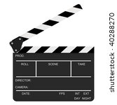 opened clapboard isolated on a...   Shutterstock . vector #40288270