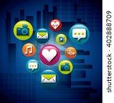 menu applications design  | Shutterstock .eps vector #402888709