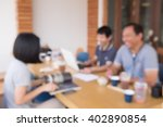 group customer conversation at... | Shutterstock . vector #402890854