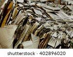 compacted bale cardboard... | Shutterstock . vector #402896020
