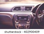 blurred car interior in pink... | Shutterstock . vector #402900409