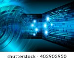 blue abstract hi speed internet ... | Shutterstock . vector #402902950