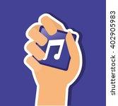 music note design  vector... | Shutterstock .eps vector #402905983