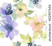 seamless pattern with flowers... | Shutterstock . vector #402907654