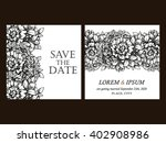 vintage delicate invitation... | Shutterstock .eps vector #402908986
