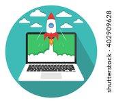 start up business concept. flat ... | Shutterstock .eps vector #402909628