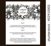 vintage delicate invitation... | Shutterstock .eps vector #402910003