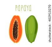 bright tropical fruit   papaya  ... | Shutterstock .eps vector #402913270