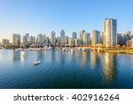 Stock photo view from the cambie bridge downtown skyline in vancouver canada 402916264
