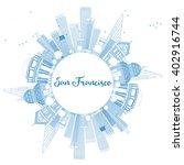 outline san francisco skyline... | Shutterstock . vector #402916744