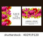 invitation with floral... | Shutterstock .eps vector #402919120