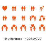 love pairs vector icon set.... | Shutterstock .eps vector #402919720